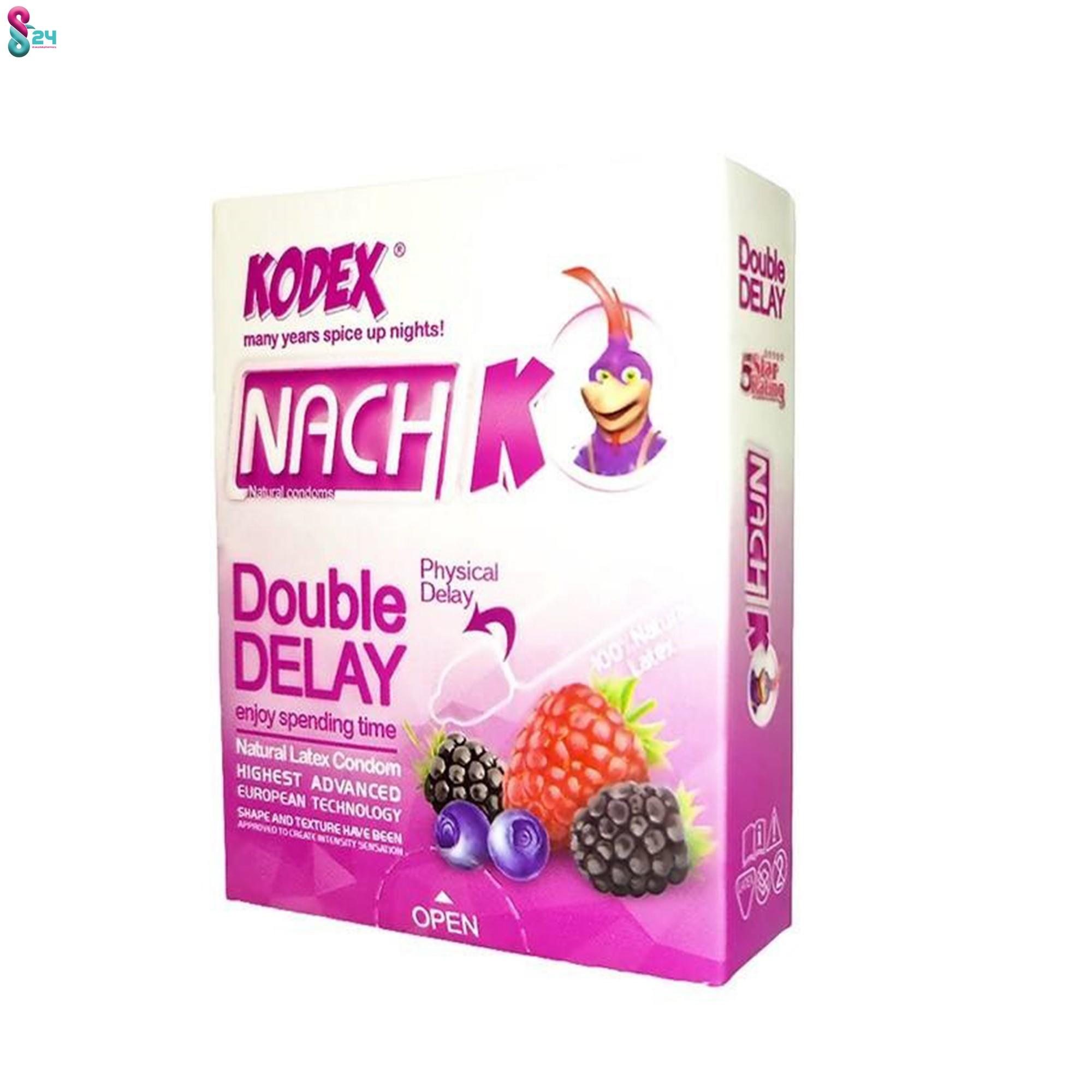 کاندوم تاخیری ناچ کدکس مدل Double Delay بسته 3 عدد