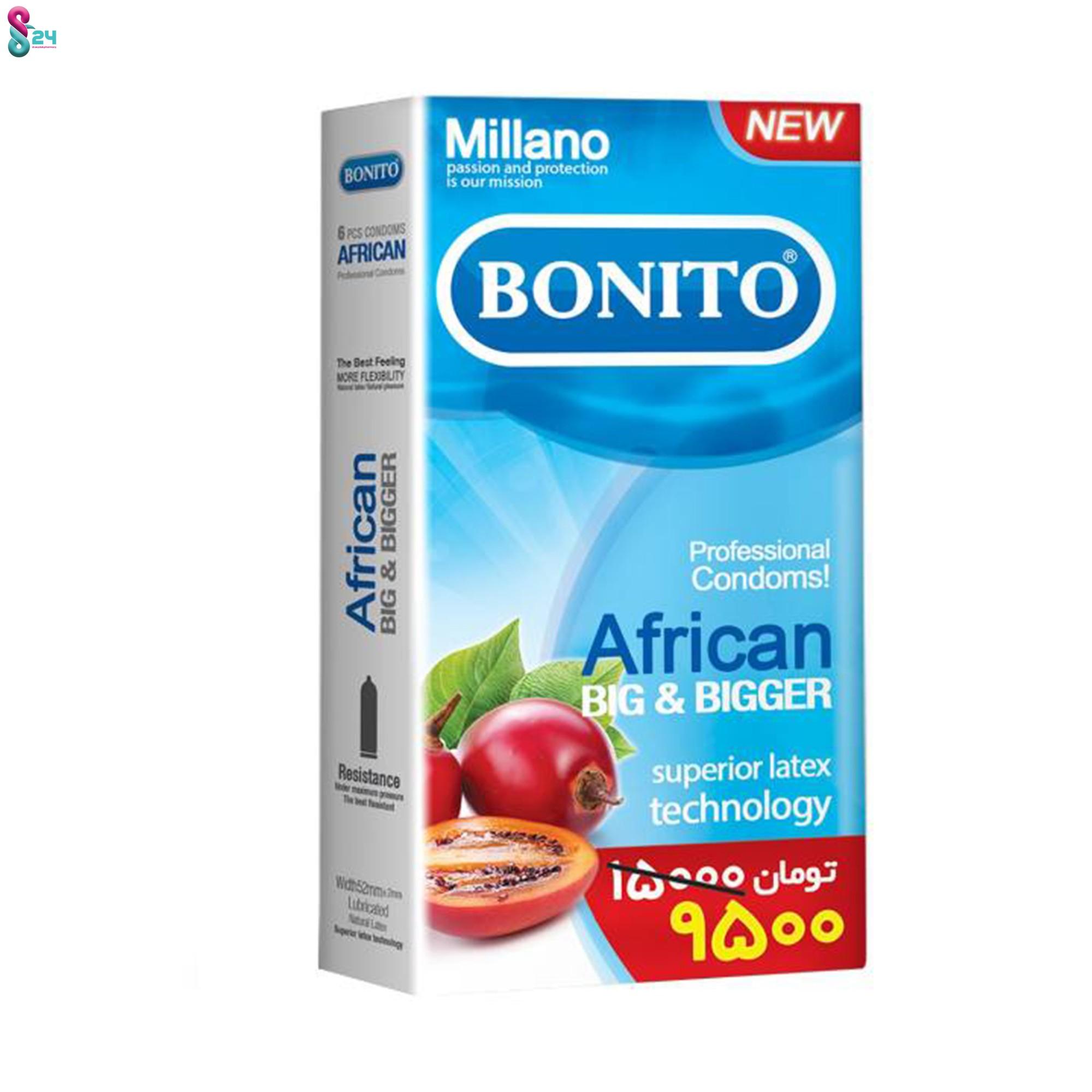 کاندوم بونیتو مدل African بسته 6 عدد