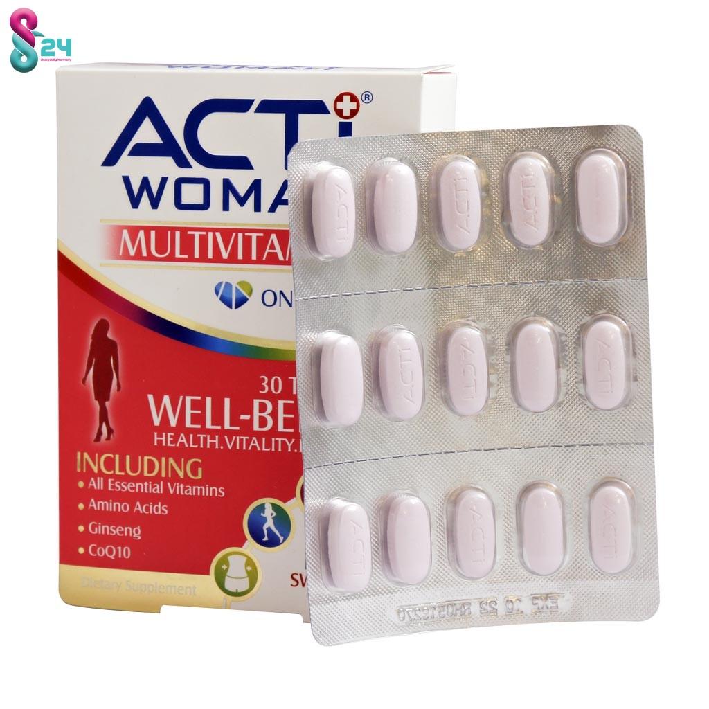 مولتی ویتامین اکتی وومن لیبرتی 30 عدد