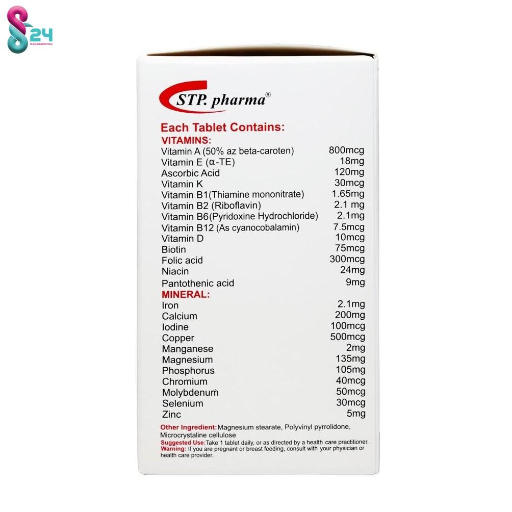 قرص مولتی ویتامین مردان بالای 50 سال STP فارما 30 عدد